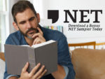 man reading the NET Bible